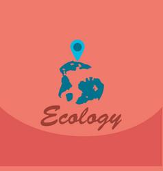 Leaf in hand logo organic life symbol eco planet vector