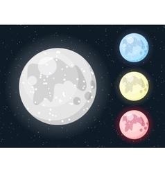 Moon set vector