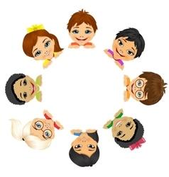 Multi ethnic group of children vector