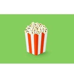 Popcorn box vector image vector image