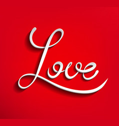 red word Love vector image vector image