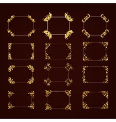 Set of decorative hand drawn frame vector image vector image