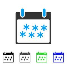 Snow calendar day flat icon vector