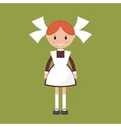 Soviet schoolgirl vector