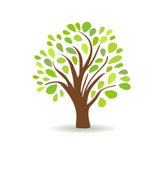 Spring tree in a white background abstract vector