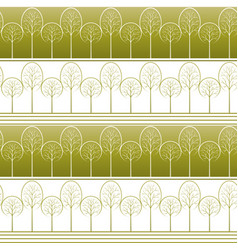 Trees seamless background vector
