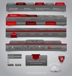 Web site navigation menu pack 21 vector image vector image