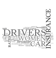Women s cheap car insurance text word cloud vector