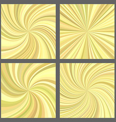 Yellow spiral and starburst background set vector