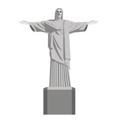 Corcovado statue christ isolated icon vector