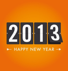 New year 2013 mechanical count style vector