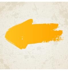 Yellow grunge arrow vector image