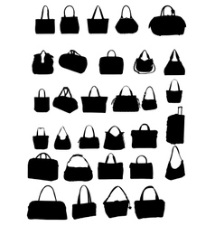 Silhouette bag vector