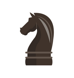 knight chess piece vector image