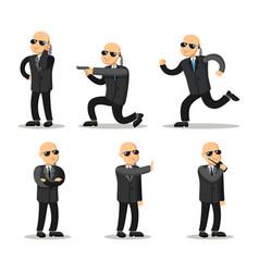 Cartoon professional safeguard man security guard vector