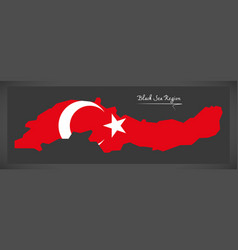 Black sea region turkey map vector