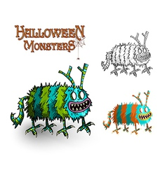 Halloween monsters spooky elements set eps10 file vector