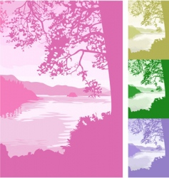 Lake background vector