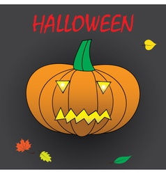 Halloween carved pumpkin eps10 vector