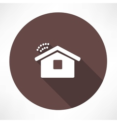 Wi fi in the house icon vector image