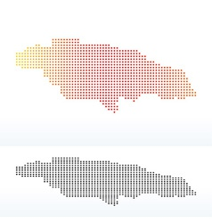 Map of jamaica with dot pattern vector