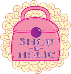 Shop-a-holic vector