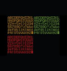 Analog alphabet vector