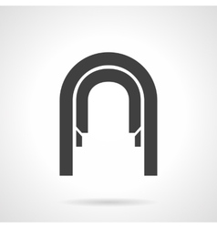 Arched corridor glyph style icon vector