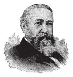 benjamin harrison vintage vector image vector image