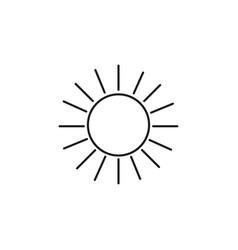 bright sun linear icon vector image
