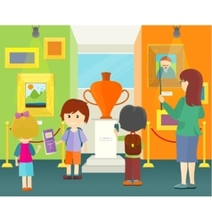 Children in Museum vector image vector image