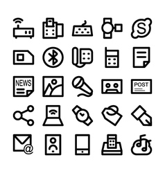 Communication icons 8 vector