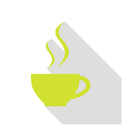 cup of coffee sign pear icon with flat style vector image