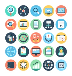 Data science icons 1 vector