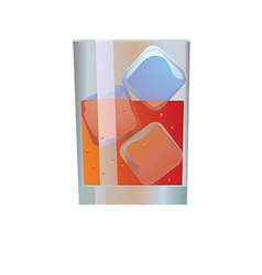 Drink in glass vector image