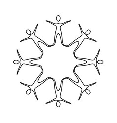 Figure people making a star with their legs vector