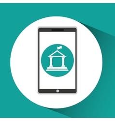 Girl app education online building university vector