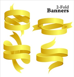 golden banners vector image vector image
