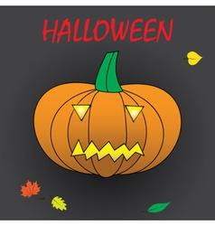 Halloween carved pumpkin eps10 vector