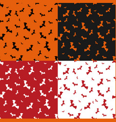 halloween pattern set with bats vector image vector image