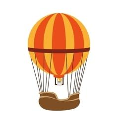 hot balloon basket fire icon vector image
