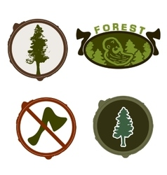 Lumberjack woodman logo green vector