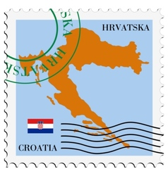 mail to-from Croatia vector image vector image