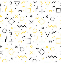 Memphis seamless pattern with geometric shapes vector