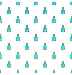 Message in bottle pattern cartoon style vector