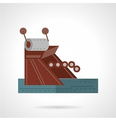 Mooring equipment flat style icon vector image