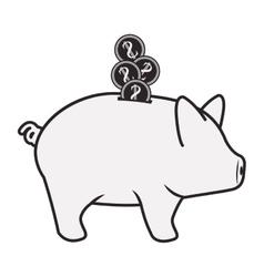 Piggy moneybox icon vector