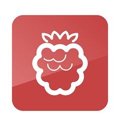 Raspberry outline icon fruit vector