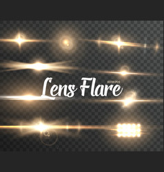 realistic lens flare set vector image vector image