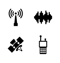 satellite connection simple related icons vector image vector image